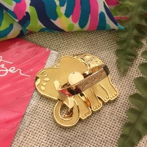 Lilly Pulitzer Elephant Critter Phone Ring /Stand